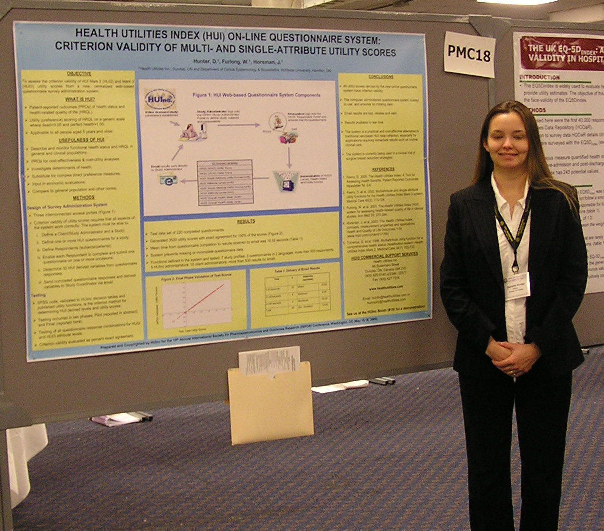 Danielle Hunter and poster at ISPOR2005