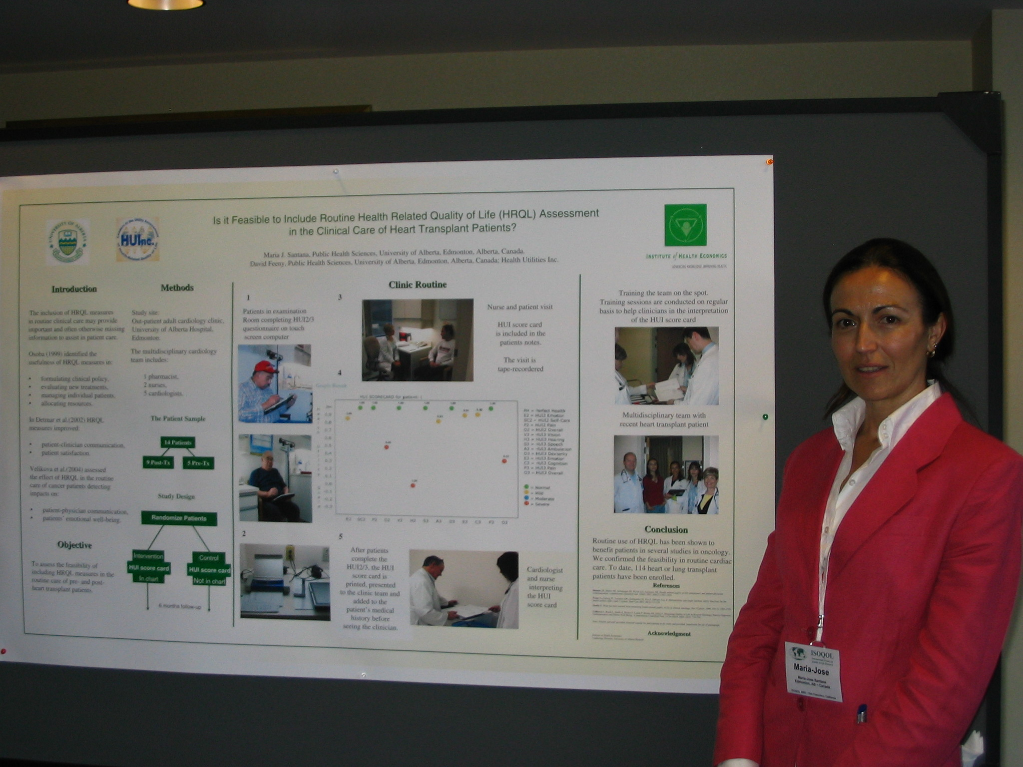 Maria Santana and poster at ISOQOL2005
